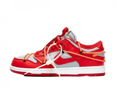 """Best Fake Nike Dunk Low Off-White """"University Red"""""""