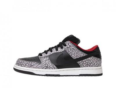 "Fake Supreme Nike Dunk SB Low ""Black Cement"""