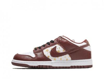 """Fake Supreme Nike SB Dunk Low """"Brown Star"""""""
