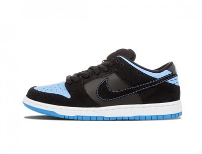"Fake Nike SB Dunk Low ""Black University Blue"""