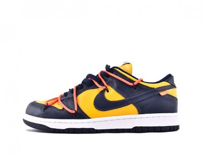 """High-quality Fake Nike Dunk Low Off-White """"University Gold"""""""