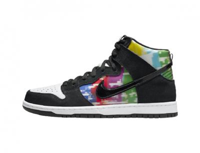 "Nike SB Dunk High ""TV Signal"" Replica"
