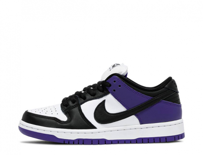"Replica Nike SB Dunk Low ""Court Purple"" on Feet"